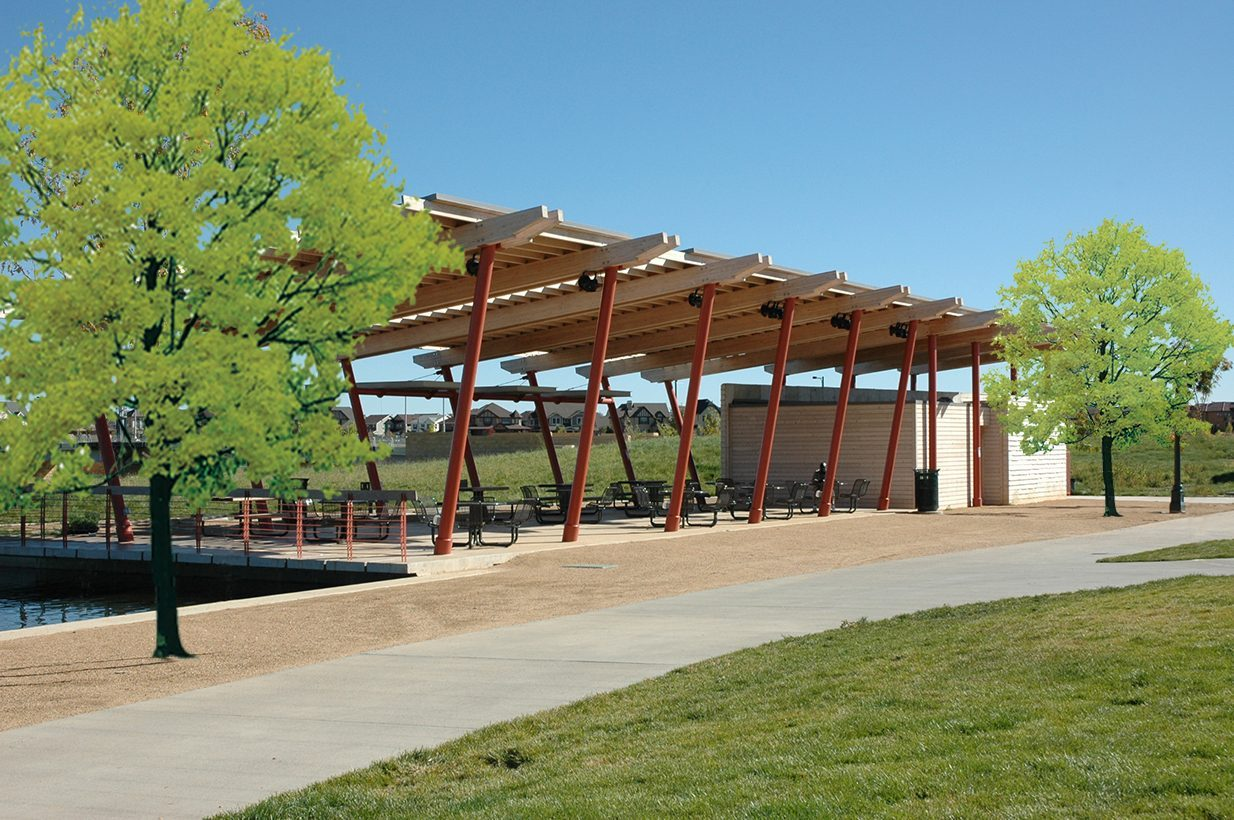 Stapleton central park structures semple brown design for Shade structures